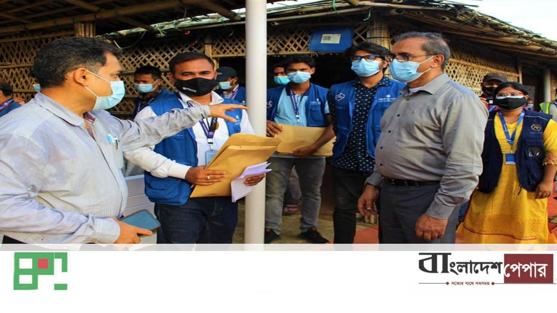 রোহিঙ্গা শিবিরের স্বাস্থ্য সেবা কেন্দ্র পরিদর্শনে শরণার্থী ত্রাণ ও প্রত্যাবাসন কমিশনার